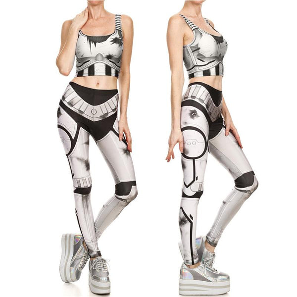 Star Wars Female Storm Trooper Compression Tank Top + Leggings