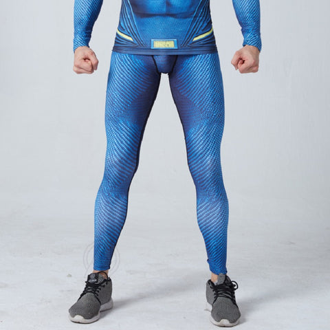Superman Superhero Compression Spats