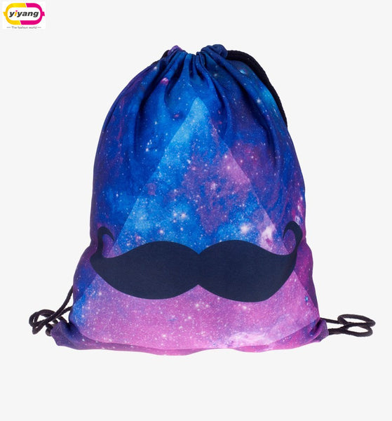 Comic Mustache Draw String Bag