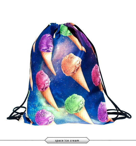 Icecream in Space Draw String Bag