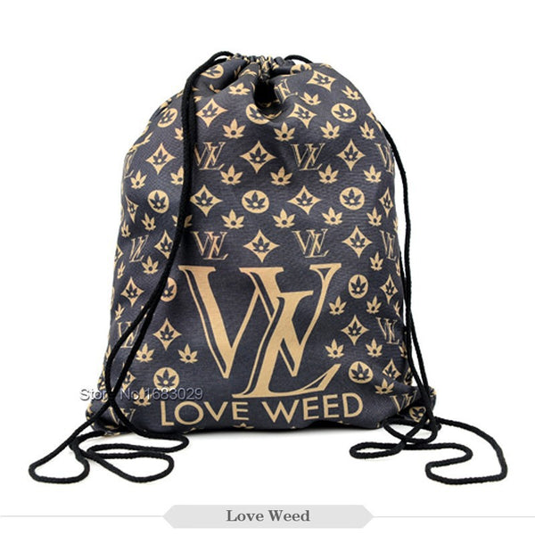 Love Weed Draw String Bag