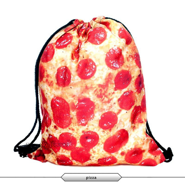 Pizza Draw String Bag
