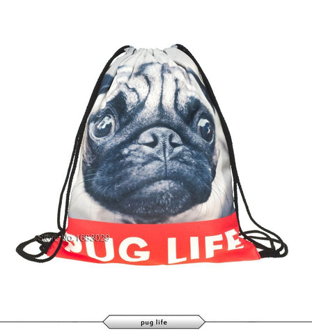 Pug Life Draw String Bag
