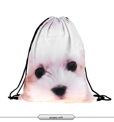 Puppy Draw String Bag