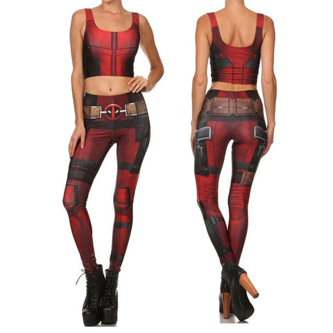 Female Deadpool Compression Tank Top + Leggings