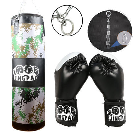 Jingpai Heavy Punching Bag + Boxing Gloves