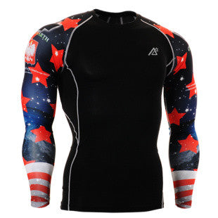 Life on Track American All-Star Long-Sleeve Compression Shirt