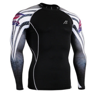 Life on Track Caged Fighter Long-Sleeve Compression Shirt