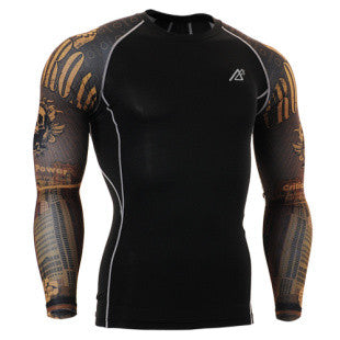 Life on Track Crossroad Long-Sleeve Compression Shirt