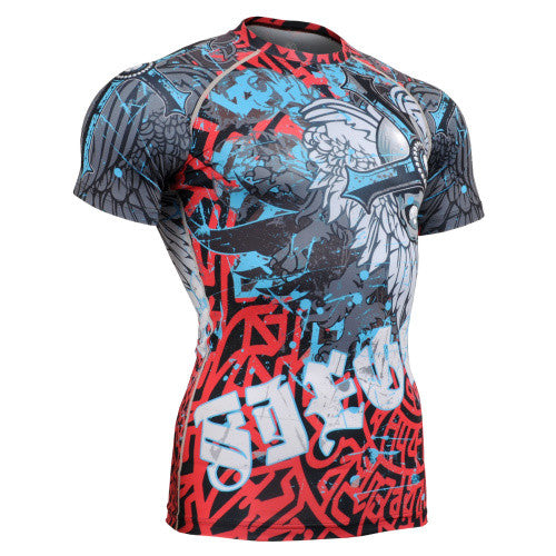 Life on Track Crusader Short-Sleeve Rash Guard