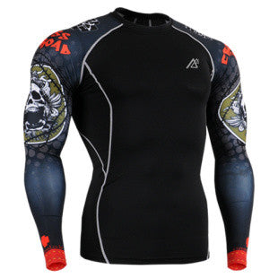 Life on Track Death Emblem Long-Sleeve Compression Shirt