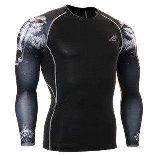 Life on Track Dire Wolf Long-Sleeve Compression Shirt