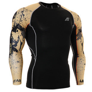 Life on Track Grounded Long-Sleeve Compression Shirt