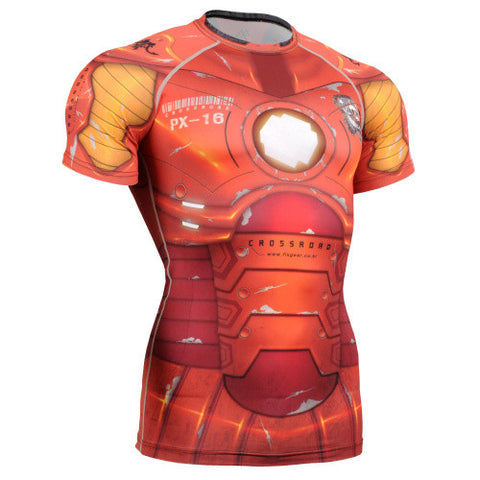 Life on Track Mech Suit Short-Sleeve Rash Guard