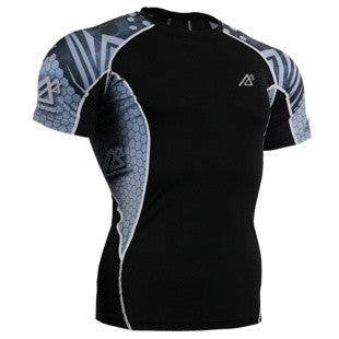 Life on Track Rash Guard- Atlantean
