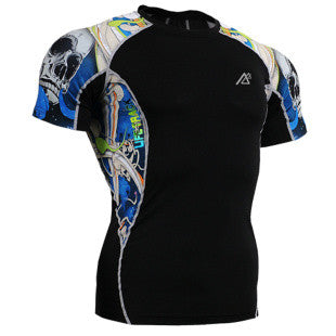 Life on Track Rash Guard - Blue Japanese Ink