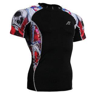 Life on Track Rash Guard - Red Japanese Ink