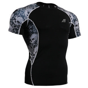Life on Track Rash Guard - Thorn Skulls