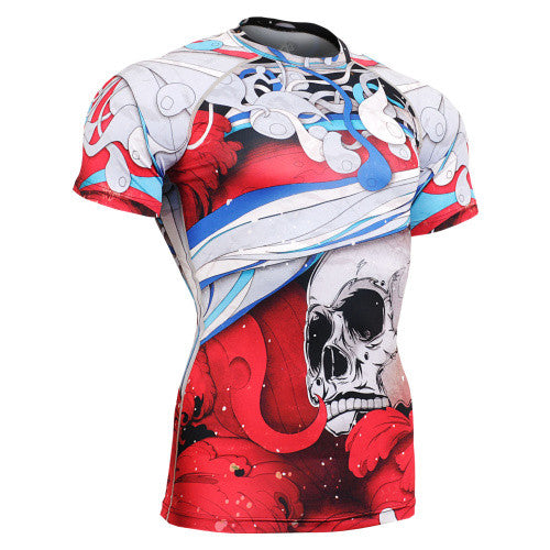 Life on Track Red Japanese Ink Short-Sleeve Rash Guard