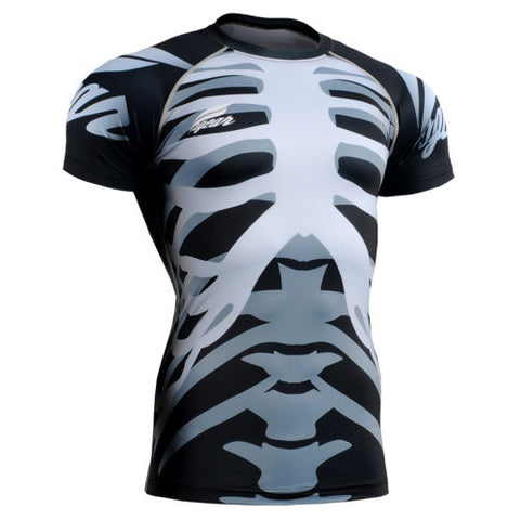 Life on Track Skeleton Short-Sleeve Rash Guard