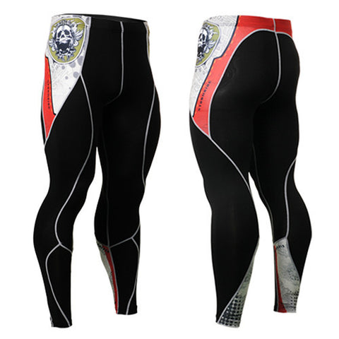 Life on Track Skull Compression Pants