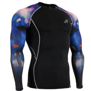 Life on Track Solar Flare Long-Sleeve Compression Shirt