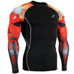 Life on Track Sun Flare Long-Sleeve Compression Shirt