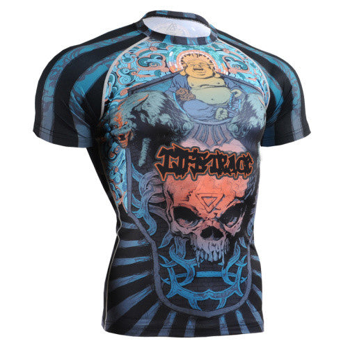 Life on Track Trippy Bhudda Short-Sleeve Rash Guard