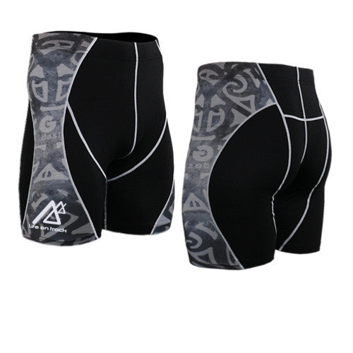 Life on Track Vale Tudo Compression Shorts - Ancient Design