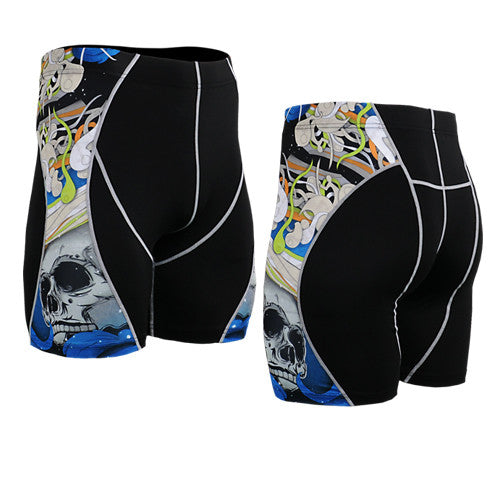Life on Track Vale Tudo Compression Shorts - Blue Japanese Ink