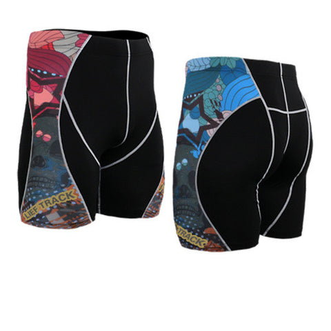 Life on Track Vale Tudo Compression Shorts - Comic