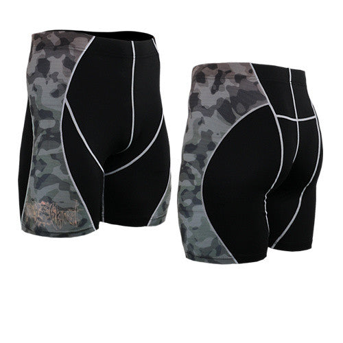 Life on Track Vale Tudo Compression Shorts - Forest Camo
