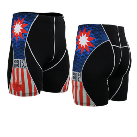 Life on Track Vale Tudo Compression Shorts - Geometric America