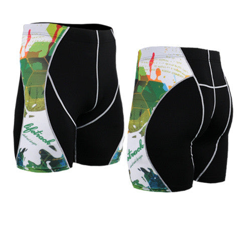 Life on Track Vale Tudo Compression Shorts - Graphic Art