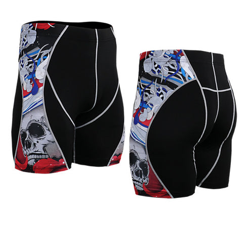 Life on Track Vale Tudo Compression Shorts - Red Japanese Ink