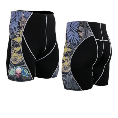 Life on Track Vale Tudo Compression Shorts - Urban Graffiti