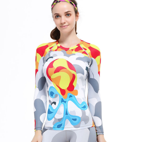Life on Track Women's Abstract Squid Long-Sleeve Compression Shirt