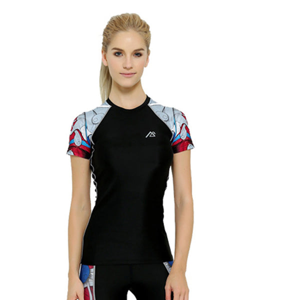 Life on Track Women's Compression Shirt - Red Japanese Ink