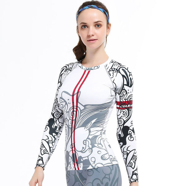 Life on Track Women's Imaginary Friends Long-Sleeve Compression Shirt