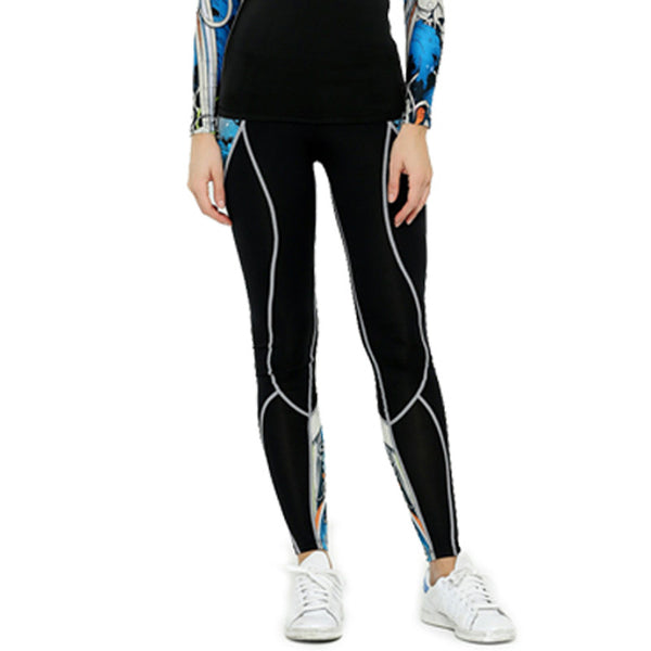 Life on Track Women's Subtle Compression Spats - Blue Japanese Ink