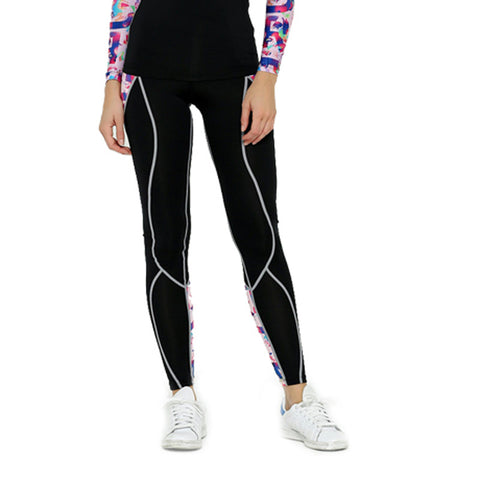 Life on Track Women's Subtle Compression Spats - Colorful Camo