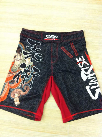 Sunrise Combat Gear BJJ No Gi Shorts