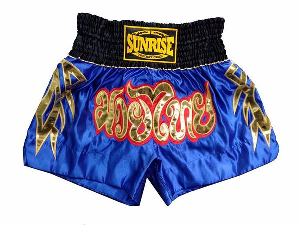 Sunrise Combat Gear Muay Thai Shorts - Blue