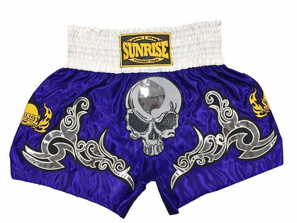 Sunrise Combat Gear Skeleton Muay Thai Shorts - Skull