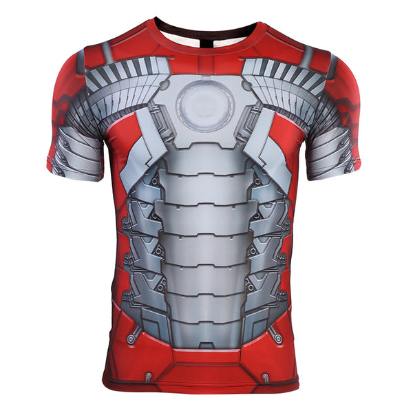 MK5 Iron Man Compression Shirt - Short Sleeve