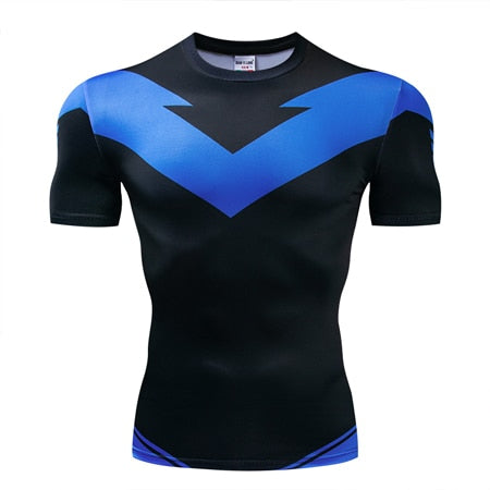 New Earth Nightwing Compression Shirt - Short Sleeve