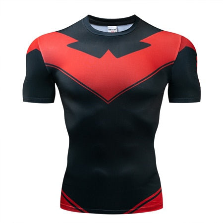 Prime Earth Nightwing Compression Shirt - Short Sleeve