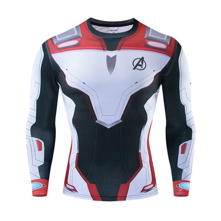MCU Avengers Space Suits Compression Shirt - Long Sleeve