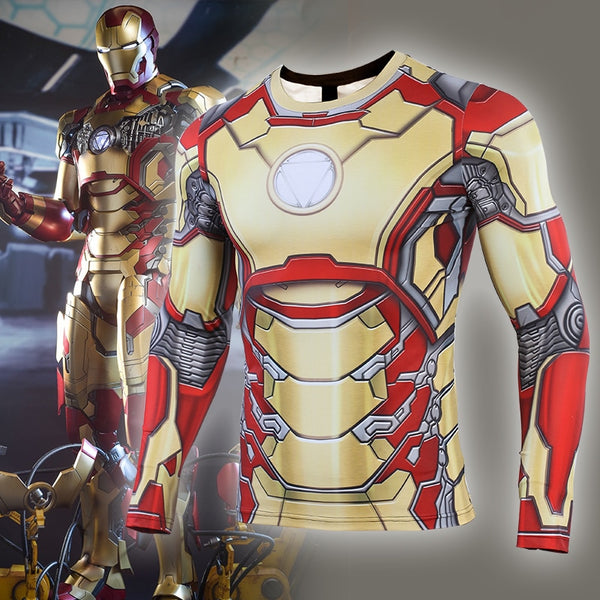 MK42 Iron Man Compression Shirt - Long Sleeve