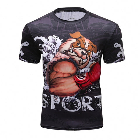 Cody Lundin Pitbull MMA Fighter Rash Guard